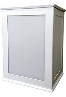 Arandela Bolt 3 Faces Branca Aço/Termoplastico 17X12,5Cm
