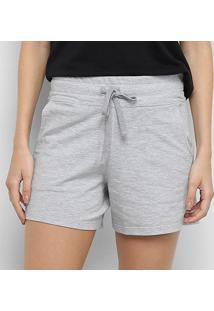 Short Pijama Calvin Klein Cotton Feminino - Feminino-Mescla