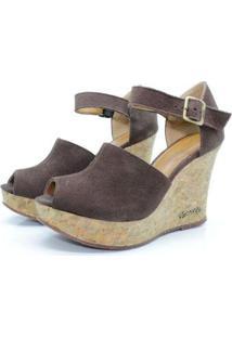 Sandalia Barth Shoes Cristal Feminina - Feminino-Marrom