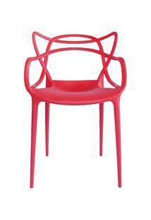 Cadeira Decorativa Para Sala De Jantar Amsterdam F01 Vermelha - Mpozen