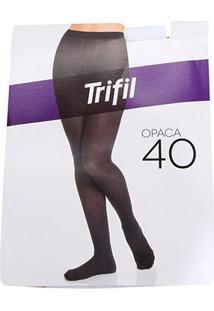 Meia Calça Trifil Opaca Fio 40 Feminina - Feminino-Branco