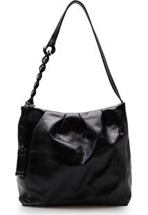 Bolsa Transversal Feminina Corello Maxi Couro Cristal Corello Bolsa Transversal Preto
