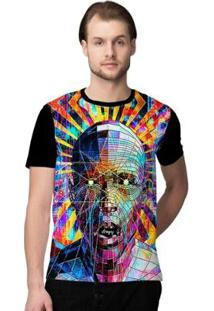 Camiseta Stompy Psicodelica16 Masculina - Masculino-Preto