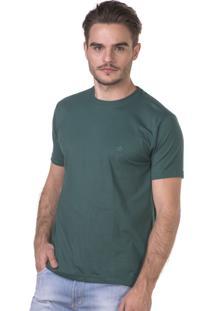 Camiseta Docthos Manga Curta Verde Militar