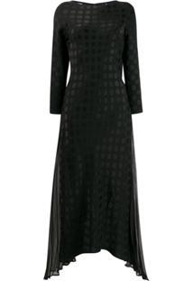 Karl Lagerfeld Karl X Carine Satin Dot Dress - Preto