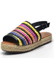 Sandália Flatform Calzaph Colors