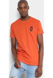 Camiseta Hd Slim Zombie Masculina - Masculino-Laranja
