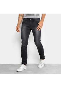 Calça Jeans Skinny Rock & Soda Estonada Masculina - Masculino-Cinza