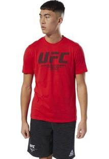 Camiseta Reebok Ufc Fg Logo Masculina - Masculino