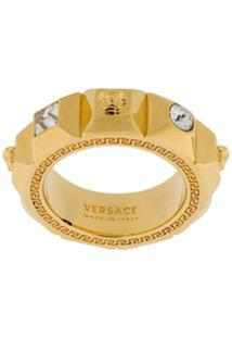 Versace Anel Medusa Com Cristais - Dourado