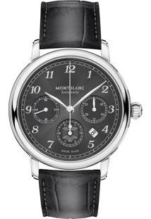 1cc7720898d Relógio Montblanc Masculino Couro Preto - 118515