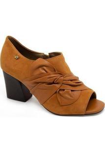 Sandália Salto Médio Verofatto Open Boot 6016923 Caramelo - Feminino