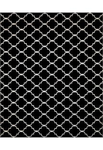 Tapete Monte Carlo Fontvieille Retangular (200X250Cm) Preto E Caramelo