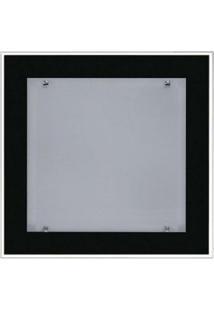 Plafon De Embutir No Gesso Para 02 Lâmpadas 30 Cm X 30 Cm Preto
