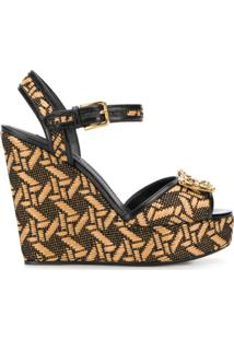 Dolce & Gabbana Sandália Plataforma Dg Amore - Neutro