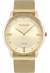 Relógio Technos Slim Analógico Dourado 9T22Am4X - Kanui