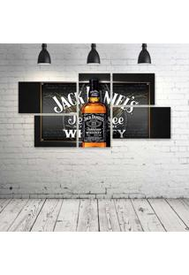 Quadro Decorativo - Liquor-Alcohol-Spirits-Poster-Drinks-() - Composto De 5 Quadros