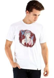 Camiseta Ouroboros Manga Curta Lady Heart - Masculino-Branco