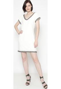 Vestido Com Pedrarias- Off White- Shirley Dantasshirley Dantas