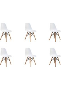 Kit 06 Cadeiras Eiffel S/ Braço Branca Rivatti