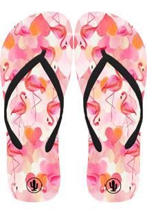 Chinelo Live Flamingos Rosa
