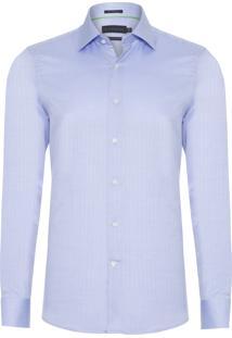 Camisa Masculina Office Premium - Azul