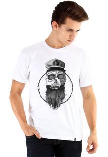 Camiseta Ouroboros Skull Marinero Branco