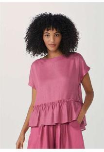 Blusa Feminina Em Tecido Texturizado Rosa