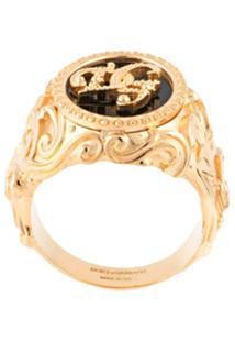 Dolce & Gabbana Anel De Sinete Dg - Dourado