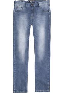 Calça Masculina Em Jeans Skinny Hering Com Desgastes