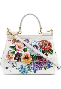 4b142ea7a ... Dolce & Gabbana Bolsa Tiracolo Sicily Pequena - Branco