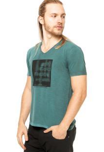 Camiseta Manga Curta Calvin Klein Estampa Geométrica Verde