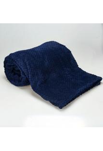 Cobertor Solteiro 1,60X2,20M Dobby Marinho