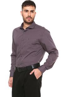 Camisa Vr Regular Fit Xadrez Cinza