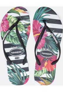 Chinelo Feminino Slim Tropical Havaianas