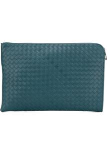 Bottega Veneta Intrecciato Document Case - Azul