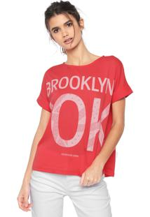 217e06aec13fb R  159,00. Dafiti Blusa Calvin Klein Jeans Estampada Coral