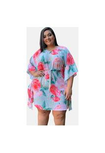 Vestido Curto Casual Tnm Collection Plus Size Social Festa Estampado