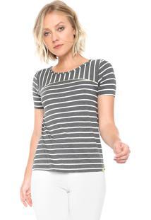 Camiseta Lunender Listrada Cinza