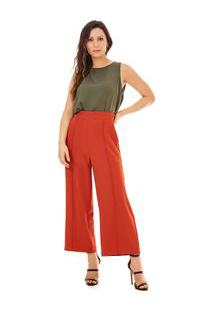 Blusa Decote Redondo Cavada Abertura Costas Verde