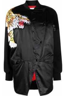 Kenzo Tiger Patch Bomber Jacket - Preto