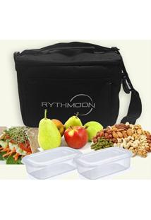 Kit Bolsa Térmica Tipo Keeppack Preta + 2 Refeições Rythmoon - Unissex