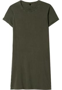 Camiseta John John Sam Malha Algodão Verde Feminina (Verde Medio, Gg)