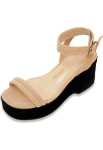 Sandália The Box Project Flatform Clear Feminina - Feminino-Preto