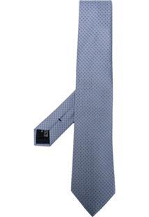 Giorgio Armani Gravata Com Padronagem - Azul