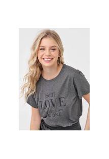 Camiseta Colcci Self Love Grafite