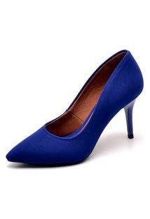 Scarpin Ellas Online Salto Médio Azul