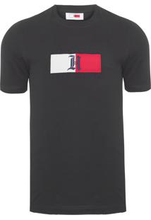 Camiseta Masculina Lh Logo - Preto