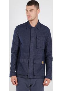 Casaco New Tweed Ecologico Azul