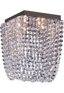 Plafon Llum Pandora Quadrado 20Cm G9 Bivolt - Transparente Transparente